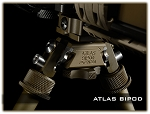 FDE Hard Anodized Atlas Bipod w/ ADM QD Mount